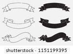 vector vintage ribbon banners | Shutterstock .eps vector #1151199395