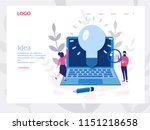 idea concept for web page ... | Shutterstock .eps vector #1151218658