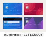 realistic detailed credit cards ... | Shutterstock .eps vector #1151220005