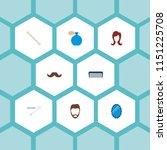 set of hairdresser icons flat... | Shutterstock .eps vector #1151225708