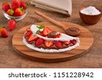 tapioca filled with hazelnut... | Shutterstock . vector #1151228942