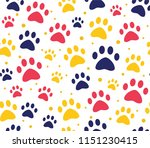 cat or dog paw patterns.... | Shutterstock .eps vector #1151230415