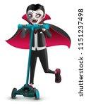 cartoon vampire monster on... | Shutterstock .eps vector #1151237498