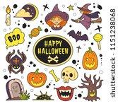 happy halloween patches...   Shutterstock .eps vector #1151238068
