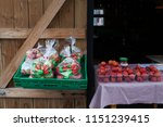 Apples For Sale In Autumn At A...