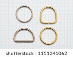 metal rings lie on a notebook... | Shutterstock . vector #1151241062
