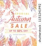 autumn special offer banner... | Shutterstock .eps vector #1151241992