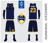 basketball jersey or sport... | Shutterstock .eps vector #1151243045