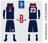 basketball uniform or sport...   Shutterstock .eps vector #1151243048