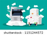 office multifunction machine.... | Shutterstock .eps vector #1151244572
