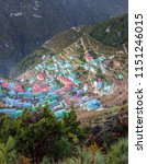 namche bazar   the capital of... | Shutterstock . vector #1151246015