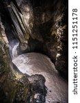 ouray box canyon waterfall sun...   Shutterstock . vector #1151251178