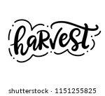 harvest fest typography poster...   Shutterstock .eps vector #1151255825