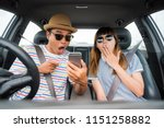 young asian man and woman... | Shutterstock . vector #1151258882