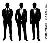 wedding men's suit and tuxedo.... | Shutterstock .eps vector #1151267468