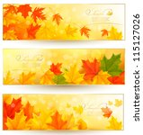 three autumn banners with... | Shutterstock .eps vector #115127026