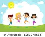 cute vector illustration happy... | Shutterstock .eps vector #1151275685