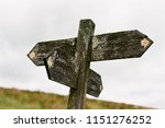 public footpath sign in lake... | Shutterstock . vector #1151276252