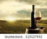 Red Wine Bottle Wine Glass - Fine Art prints