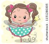 cute cartoon fairy girl on a... | Shutterstock .eps vector #1151280305