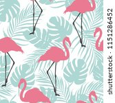 flamingo seamless pattern on... | Shutterstock .eps vector #1151286452