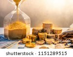 sand running through the shape... | Shutterstock . vector #1151289515