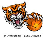 a tiger angry animal sports... | Shutterstock .eps vector #1151290265