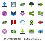 colored vector icon set  ... | Shutterstock .eps vector #1151291132