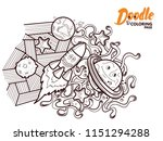 funny coloring page for adults... | Shutterstock .eps vector #1151294288