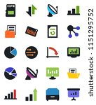 color and black flat icon set   ... | Shutterstock .eps vector #1151295752