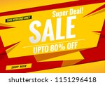 sale banner template red and... | Shutterstock .eps vector #1151296418