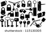 Set Of Keys And Locks Isolated