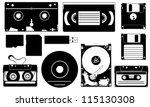 Set Of Different Data Storage...