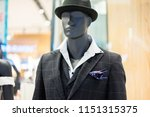 luxury suit in shop | Shutterstock . vector #1151315375