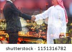 double exposure of arabman ... | Shutterstock . vector #1151316782