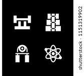4 ball icons in vector set.... | Shutterstock .eps vector #1151319902
