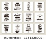 set of cards with quotes.... | Shutterstock .eps vector #1151328002