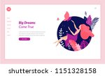 web page design template for... | Shutterstock .eps vector #1151328158