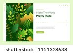 web page design template for... | Shutterstock .eps vector #1151328638