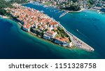 aerial view of island rab and... | Shutterstock . vector #1151328758