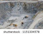 mining in the granite quarry.... | Shutterstock . vector #1151334578