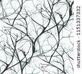 winter forest vector seamless... | Shutterstock .eps vector #1151337332