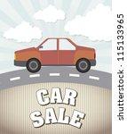 car sale announcement  vintage... | Shutterstock .eps vector #115133965