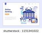 landing page template of online ... | Shutterstock .eps vector #1151341022