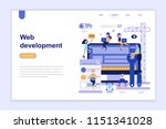 landing page template of web... | Shutterstock .eps vector #1151341028