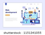 landing page template of web... | Shutterstock .eps vector #1151341055