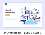 landing page template of cloud... | Shutterstock .eps vector #1151341058