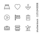 modern simple vector icon set....