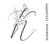 vector hand drawn flowered k... | Shutterstock .eps vector #1151343992