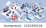 blockchain  internet of things... | Shutterstock .eps vector #1151350118